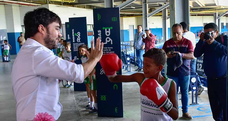 """Resultado de imagen de """"En el deporte, los niños y jóvenes encontrarán un futuro de posibilidades"""": alcalde Pumarejo"""